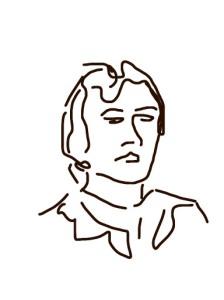 Danny Mooney 'Head of a woman' iPad drawing