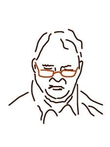 Danny Mooney 'Man reading' iPad drawing