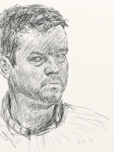 Danny Mooney 'Self portrait 26.1.13' Digital drawing