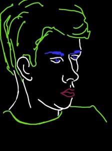 Danny Mooney 'Xav II' iPad drawing