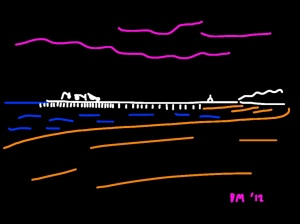 Danny Mooney 'Hastings Pier' iPad drawing