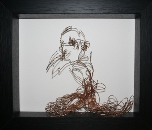 Danny Mooney 'Harry' Bronze and Iron wire, 27 x 32 x 7cm