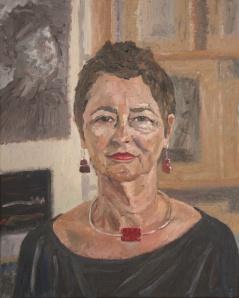 Danny Mooney 'Nicky in the studio' Oil on linen 50 x 40 cm