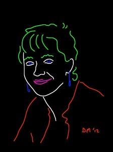 Danny Mooney 'Kathy Sykes' iPad drawing