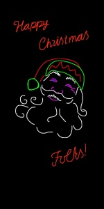 Danny Mooney 'Propoasal for a neon Santa 3' iPad drawing