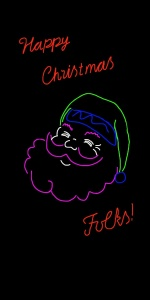 Danny Mooney 'Proposal for a neon Santa 1' iPad drawing