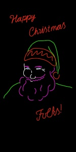 Danny Mooney 'Proposal for a neon Santa 2' iPad Drawing
