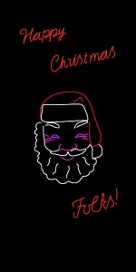 Danny Mooney 'Proposal for a neon Santa 4' iPad drawing