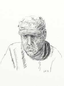 Danny Mooney 'Self portrait 20.1.13' Digital drawing