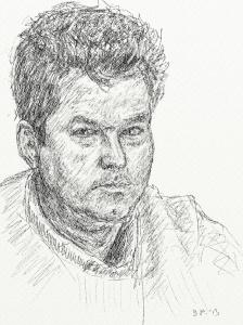 Danny Mooney 'Self portrait 6' Digital drawing