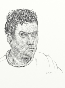 Danny Mooney 'Self portrait 7' Digital drawing