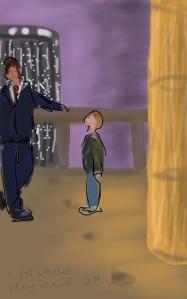 Danny Mooney 'Light Show, Hayward Gallery' Digital Drawing
