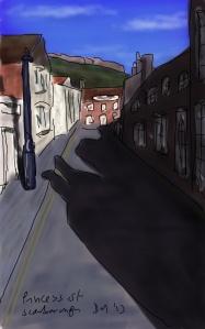 Danny Mooney 'Princess Street Scarborough' Digital drawing