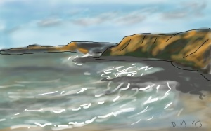 Danny Mooney 'Scarborough Coast' Digital drawing