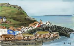 Danny Mooney 'Scarborough Harbour' Digital drawing
