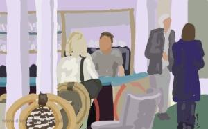Danny Mooney 'Baker Mamonova Café' Digital painting