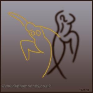 Danny Mooney 'Dancing' Digital drawing