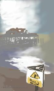 Danny Mooney 'Foggy pier' 21/1/2014 Digital painting