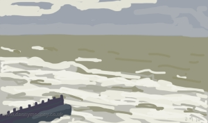 Danny Mooney 'Groyne' 9/1/2014 Digital painting