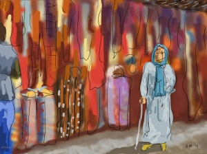 Danny Mooney 'In the Souk' 5/1/2014 digital painting