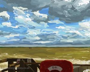 Danny Mooney 'Inshore fishing' Digital drawing