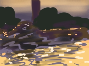 Danny Mooney 'Jemaa el Fna, dusk' 4/2/2014 Digital painting