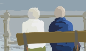 Danny Mooney 'Looking out to sea' 14/1/2014 Digital painting