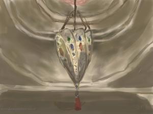 Danny Mooney 'Moroccan lamp' Digital painting