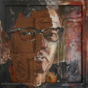 Danny Mooney 'New specs' Mixed media 50 x 50 cm