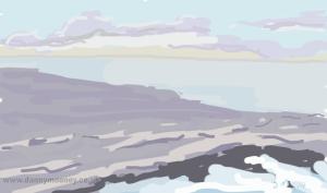 Danny Mooney 'Purple sea' 20/1/2014 Digital painting
