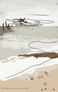 Danny Mooney 'Rain squall coming in' 28/1/2014 Digital painting