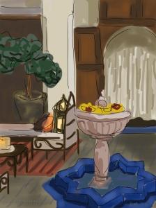 Danny Mooney 'Riad Clos des Arts' 6/2/2014 Digital painting