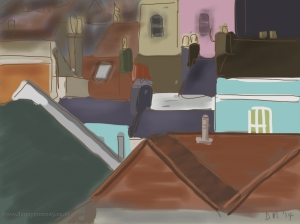 Danny Mooney 'Rooves' 23/2/2014 Digital painting