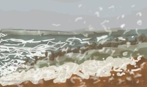 Danny Mooney 'Sea foam' 17/1/2014 Digital painting