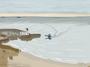 Danny Mooney 'South bay, Scarborough' 19/2/2014 Digital painting