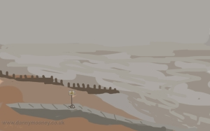 Danny Mooney 'South westerly, 29 mph 26/1/2014 Digital painting