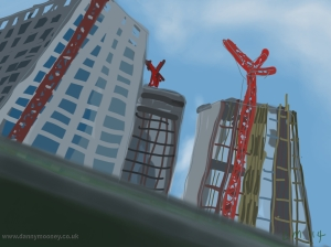 Danny Mooney 'St Pancras Square' 20/2/2014 Digital painting