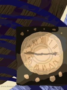 Danny Mooney 'Station clock' Digital painting
