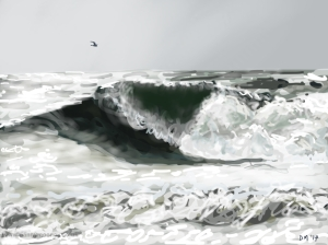 Danny Mooney 'Stormy seas' 15/2/2014 Digital painting