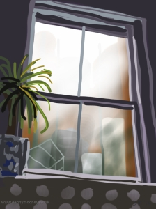 Danny Mooney 'Studio window' 13/2/2014 Digital painting