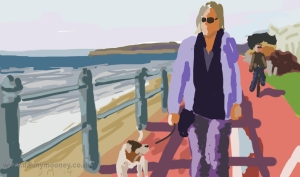 Danny Mooney 'Sunday stroll' 19/1/2014 Digital painting