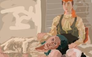 Danny Mooney 'Terri and Cleo' Digital painting
