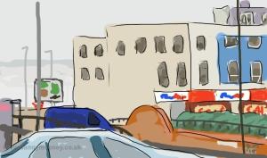 Danny Mooney 'Wellington Place' 24/1/2014 Digital drawing