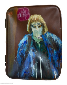 Danny Mooney 'Summer Holiday' Oil painting on suitcase lid 54 x 41cm