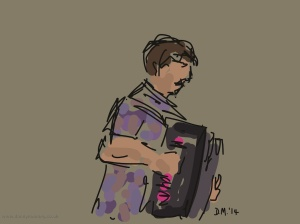 Danny Mooney 'The Demon Barbers XL, 13/9/2014 #6' iPad painting