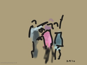Danny Mooney 'The Demon Barbers XL, 13/9/2014 #8' iPad painting