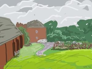 Danny Mooney 'Towards Hastings Museum, 28/2/2014' Digital painting