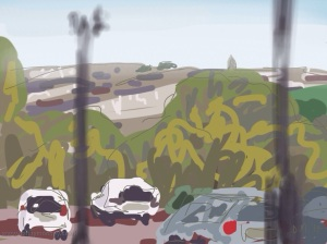 Danny Mooney 'From Summerfields Leisure Centre 5-3-2014' Digital painting