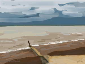 Danny Mooney 'Calm sea 18/3/2014' Digital painting