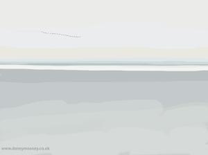 Danny Mooney 'Migrating birds 30/3/2014' Digital painting